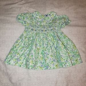 CARRIAGE BOUTIQUES GREEN BLUE YELLOW FLORAL DRESS